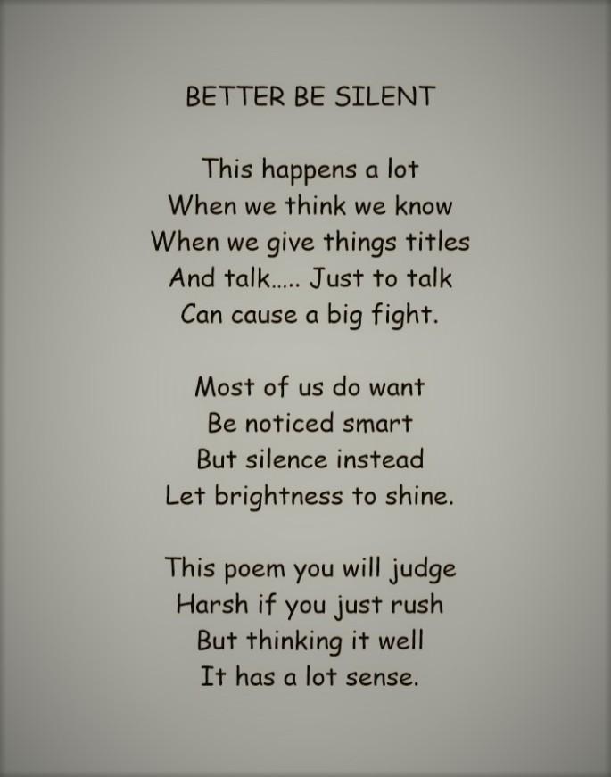 Better be Silent (3)